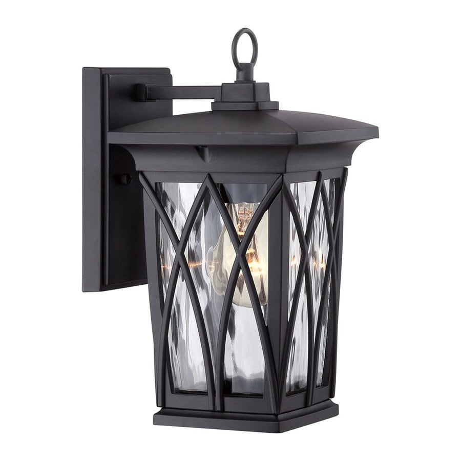Quoizel Grover 11-in H Mystic Black Outdoor Wall Light