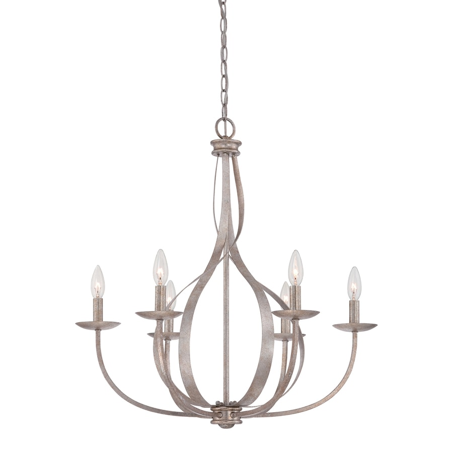 Quoizel Serenity 26.5-in 6-Light Italian Fresco Candle Chandelier