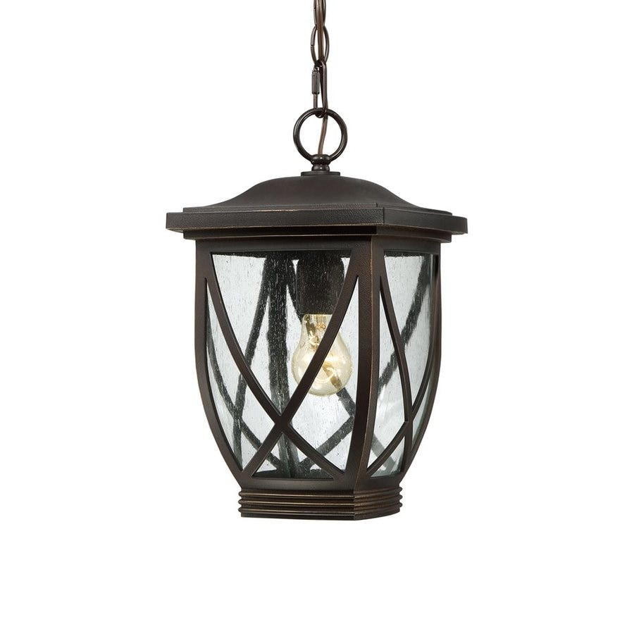 Quoizel Tudor 14.5-in Palladian Bronze Outdoor Pendant Light
