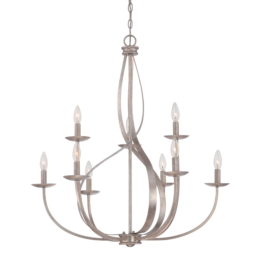 Quoizel Serenity 30-in 9-Light Italian Fresco Candle Chandelier