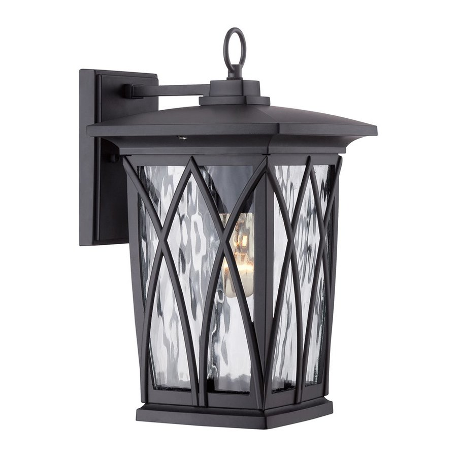 Quoizel Grover 14.5-in H Mystic Black Medium Base (E26) Outdoor Wall Light