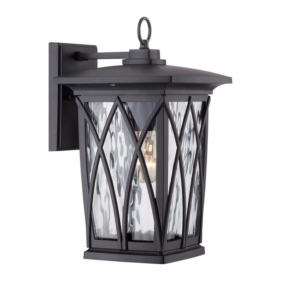 Quoizel Grover 14.5-in H Mystic Black Outdoor Wall Light