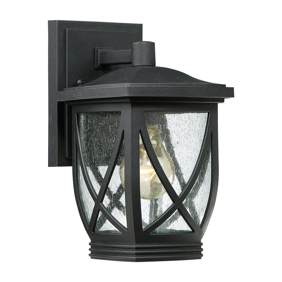 Quoizel Tudor 10.5-in H Mystic Black Outdoor Wall Light