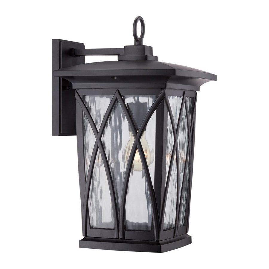 Quoizel Grover 17.5-in H Mystic Black Outdoor Wall Light