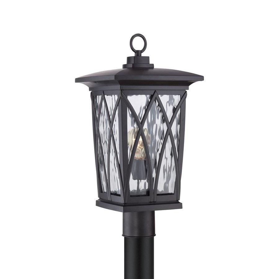 Quoizel Grover 20.5-in H Mystic Black Post Light