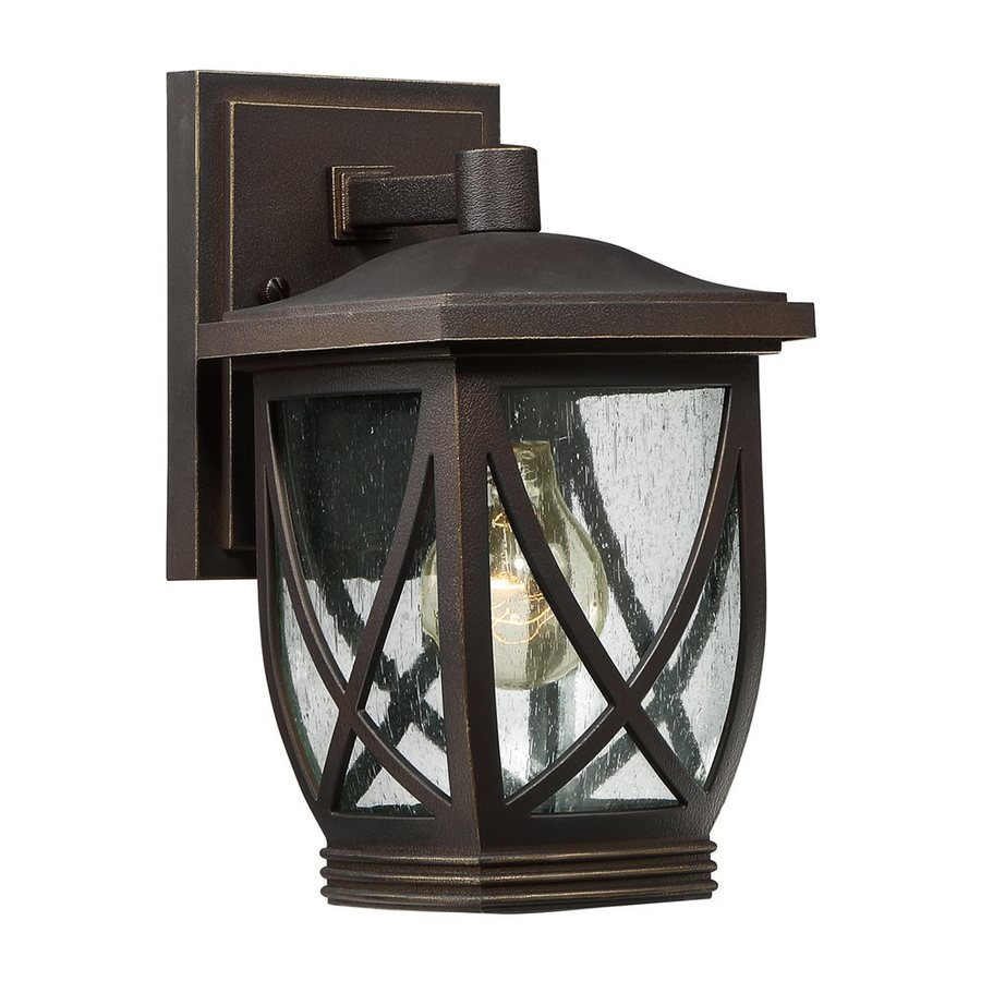 Quoizel Tudor 10.5-in H Palladian Bronze Outdoor Wall Light