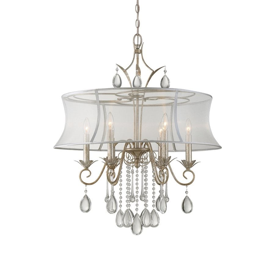 Quoizel Silhouette 28-in 6-Light Italian Fresco Drum Chandelier