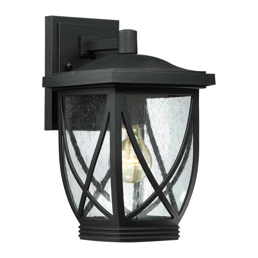 Quoizel Tudor 12.5-in H Mystic Black Outdoor Wall Light