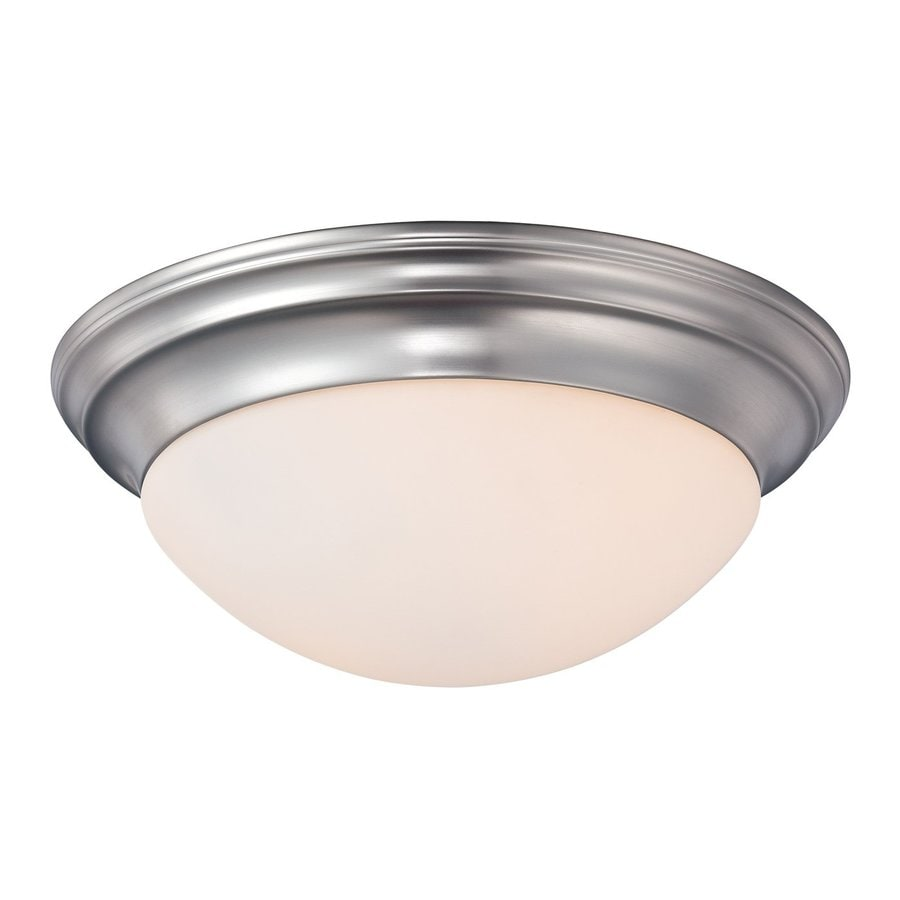 Quoizel Summit 12-in W Brushed nickel Flush Mount Light