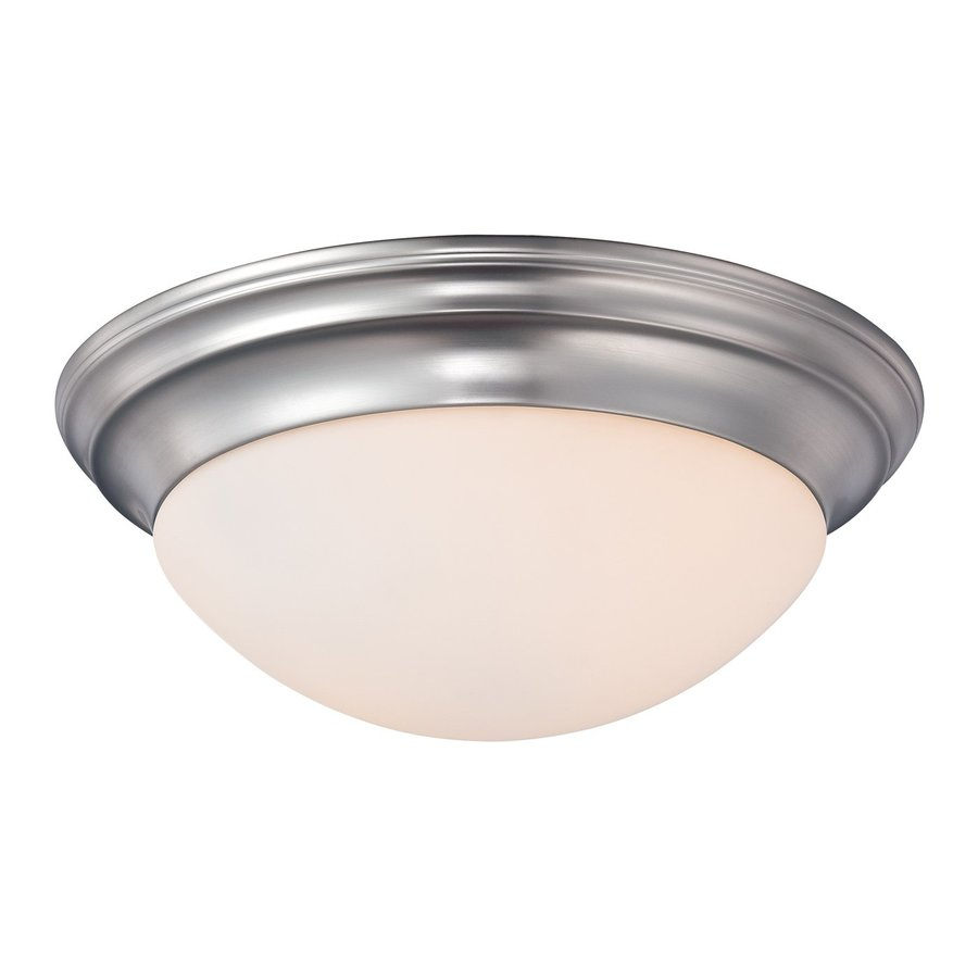 Quoizel Summit 14-in W Brushed Nickel Ceiling Flush Mount Light