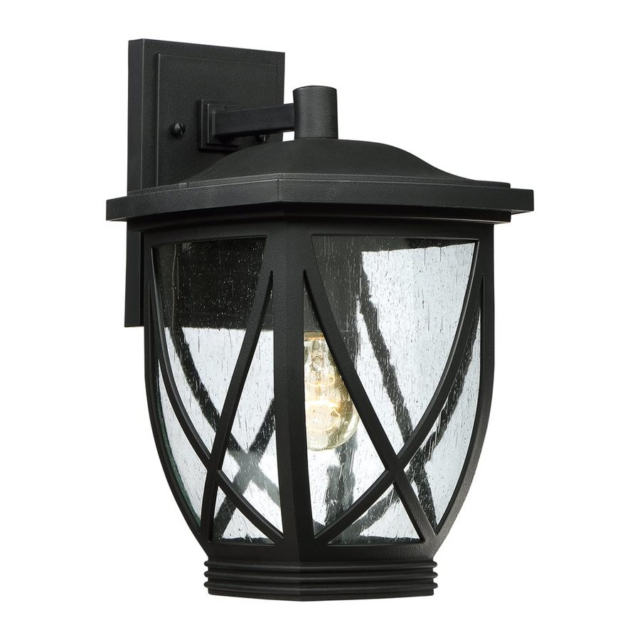 Quoizel Tudor 15-in H Mystic Black Outdoor Wall Light