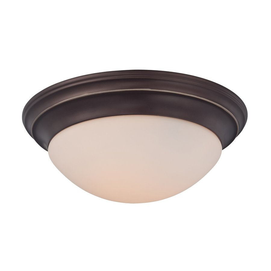 Quoizel Summit 14-in W Palladian bronze Flush Mount Light