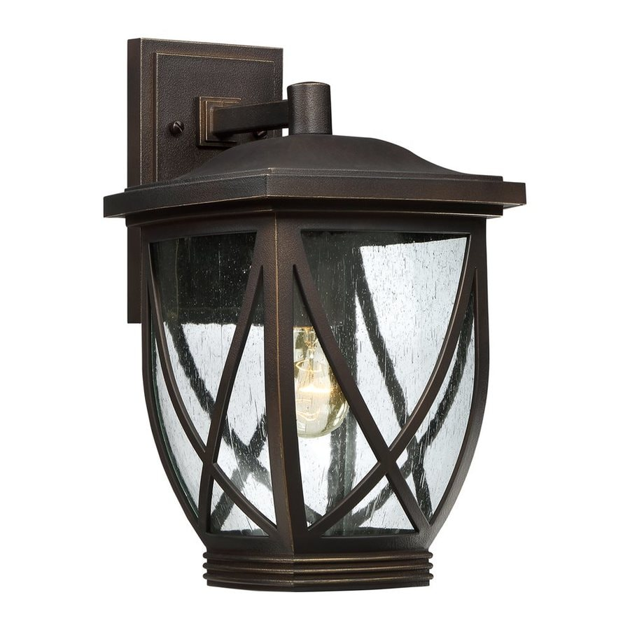 Quoizel Tudor 15-in H Palladian Bronze Outdoor Wall Light