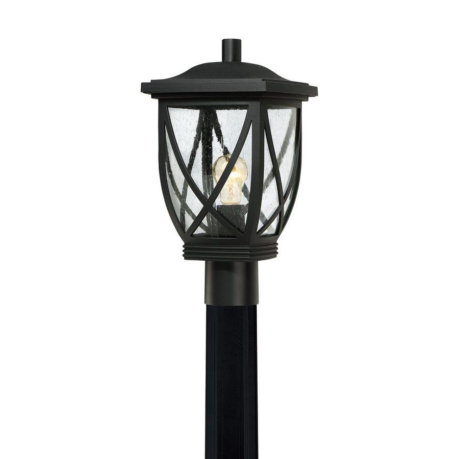 Quoizel Tudor 16-in H Mystic Black Post Light