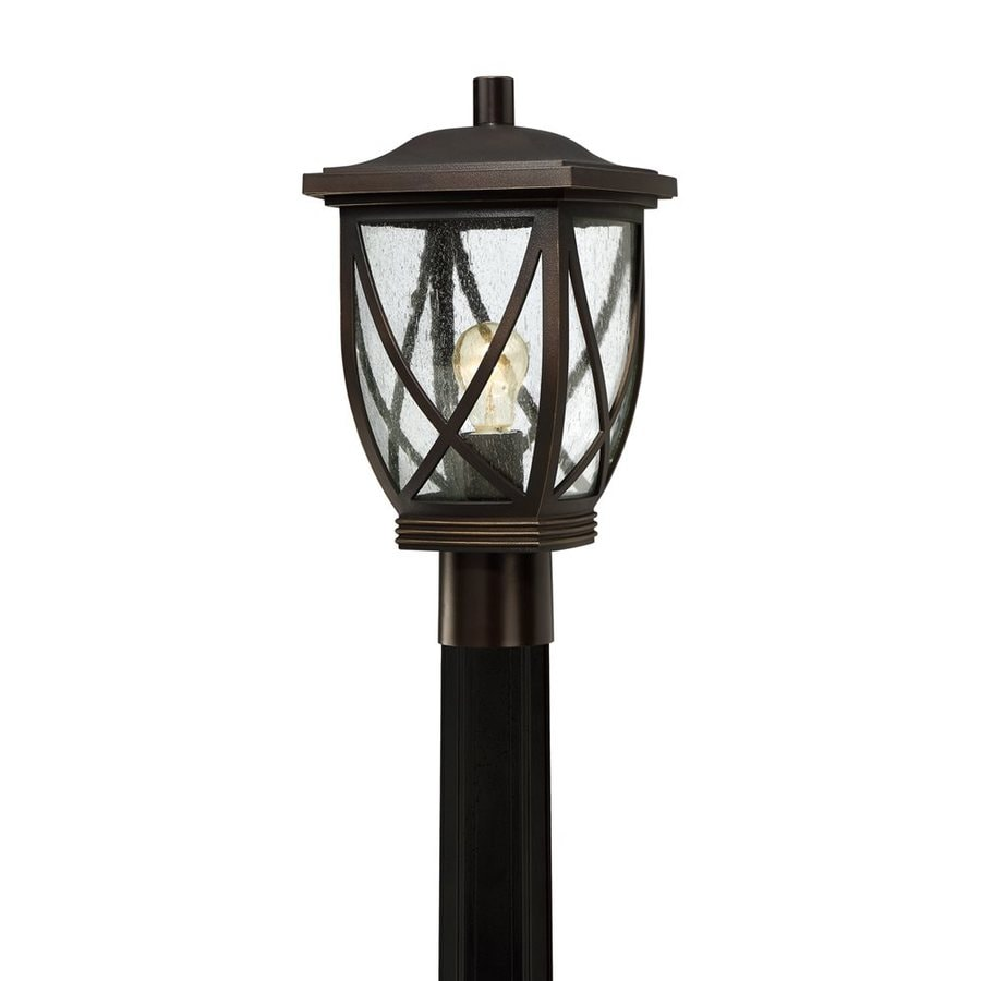 Quoizel Tudor 16-in H Palladian Bronze Post Light