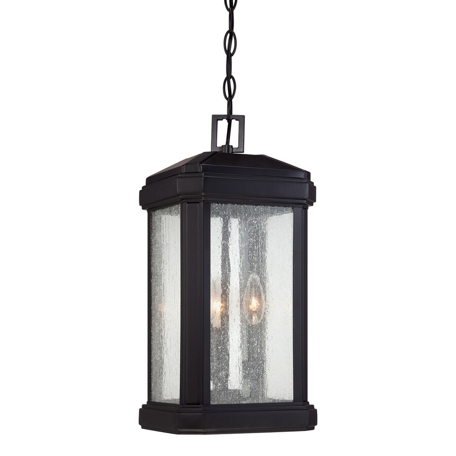 Quoizel Trumbull 19-in Mystic Black Outdoor Pendant Light