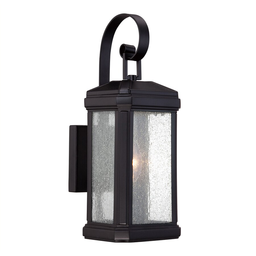 Quoizel Trumbull 14.5-in H Mystic Black Candelabra Base (E-12) Outdoor Wall Light