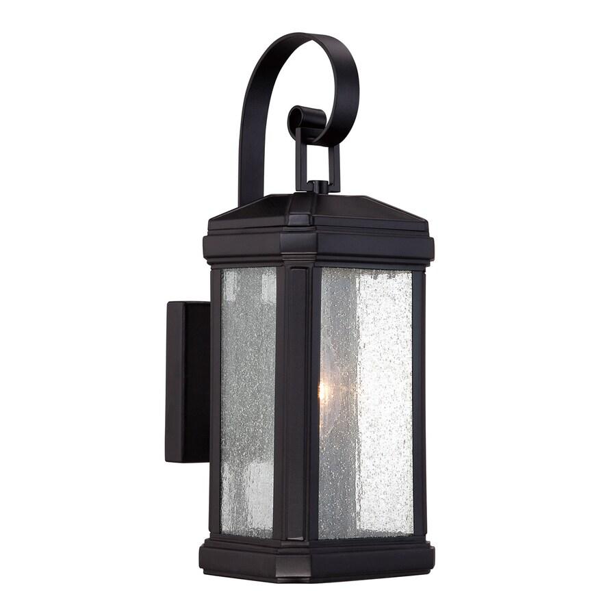 Quoizel Trumbull 14.5-in H Mystic Black Outdoor Wall Light