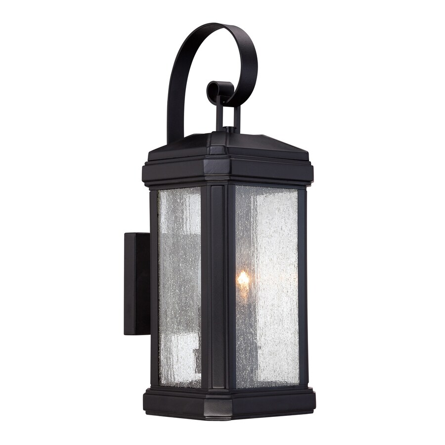 Quoizel Trumbull 18.5-in H Mystic Black Outdoor Wall Light