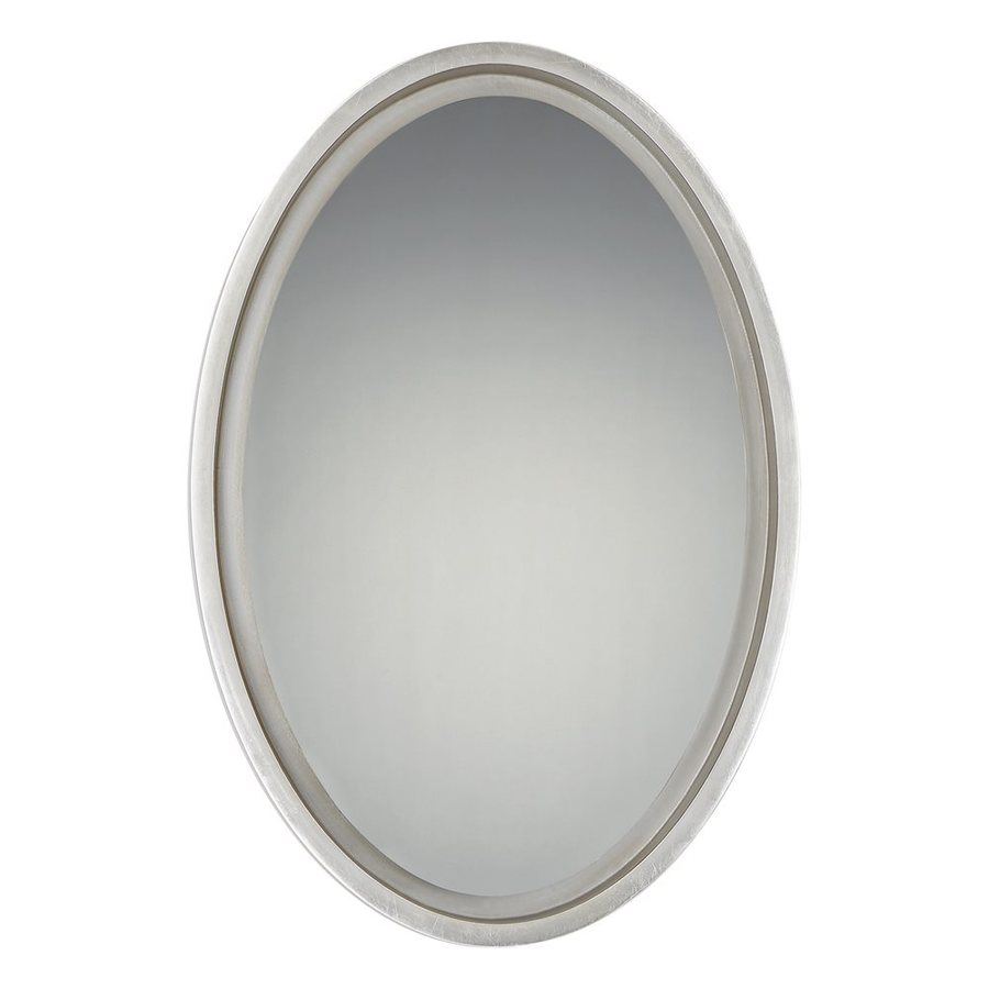 Shop quoizel reflections 20 5 in x 30 5 in silver leaf for Mirror 20 x 30
