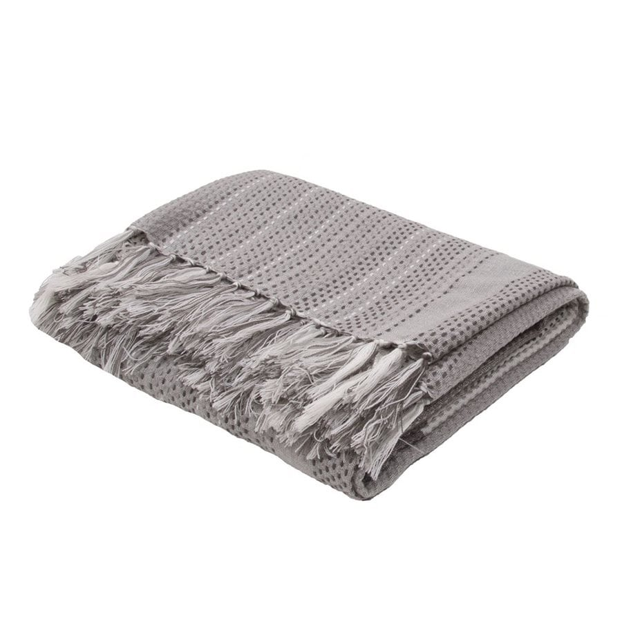 Jaipur Posy Neutral Gray 71-in L x 51-in W Acrylic Throw