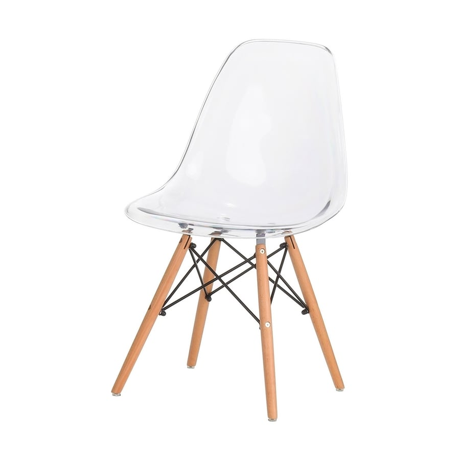 shop polivaz eames modern clear accent chair at