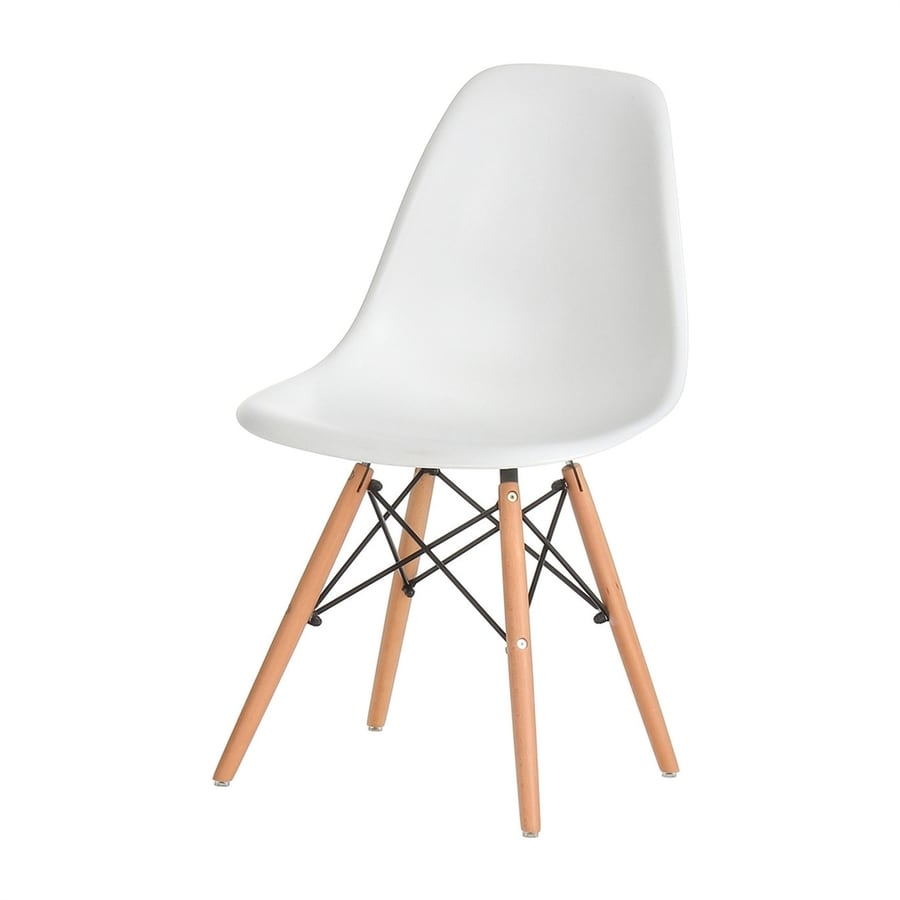 PoliVaz Eames Style White Accent Chair