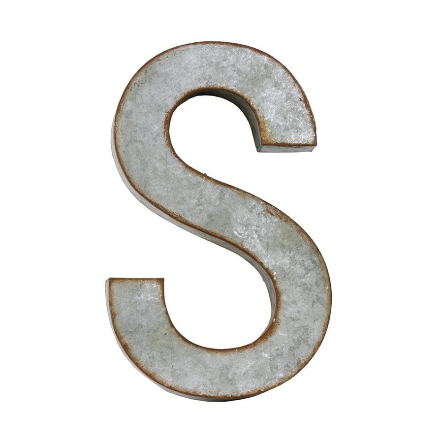 Galvanized Letter H Shop Urban Trends 10In W X 16In H Frameless Metal Galvanized