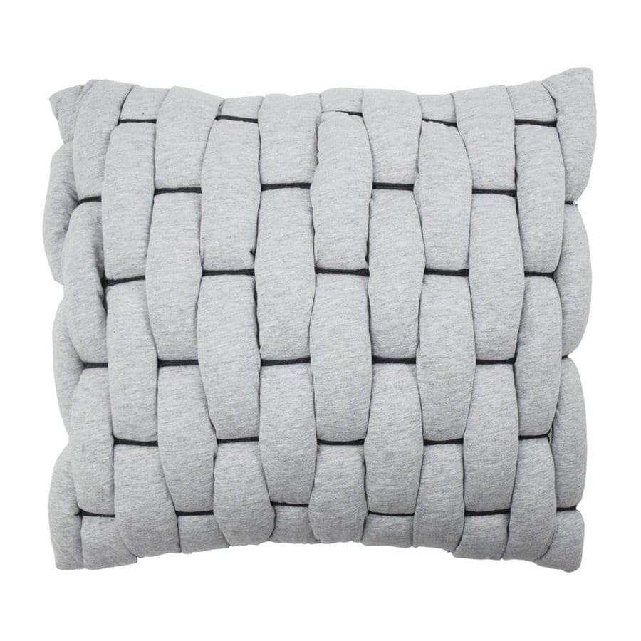 Vue by Ellery Cersei 18-in W x 18-in L Gray Square Indoor Decorative Pillow