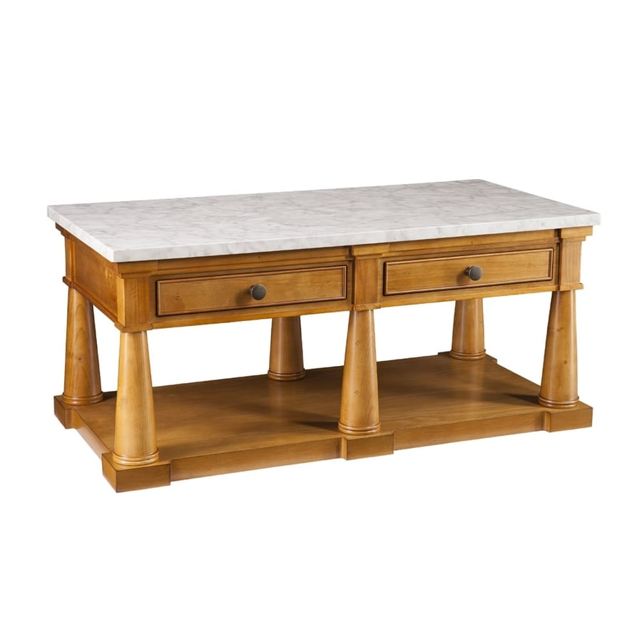 Shop Boston Loft Furnishings Granddell Pine Faux Marble Coffee Table At