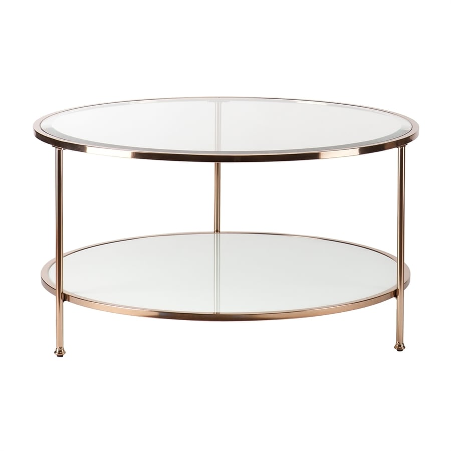Boston Loft Furnishings Riku Gold Metal Round Coffee Table