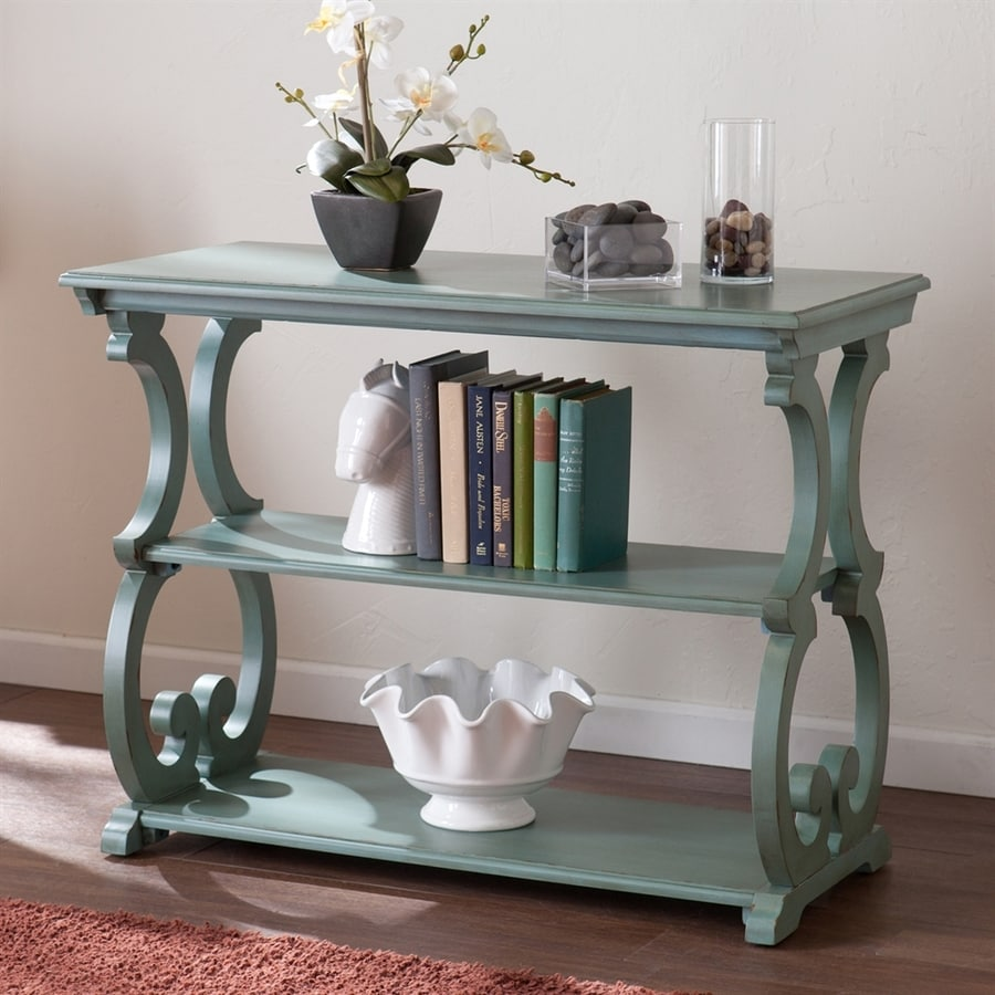 Boston Loft Furnishings Bando Distressed Agate Green Poplar Rectangular Console and Sofa Table