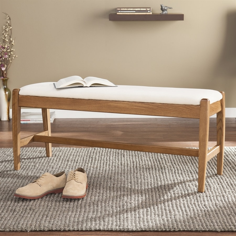 Boston Loft Furnishings Arless Transitional Walnut Accent Bench