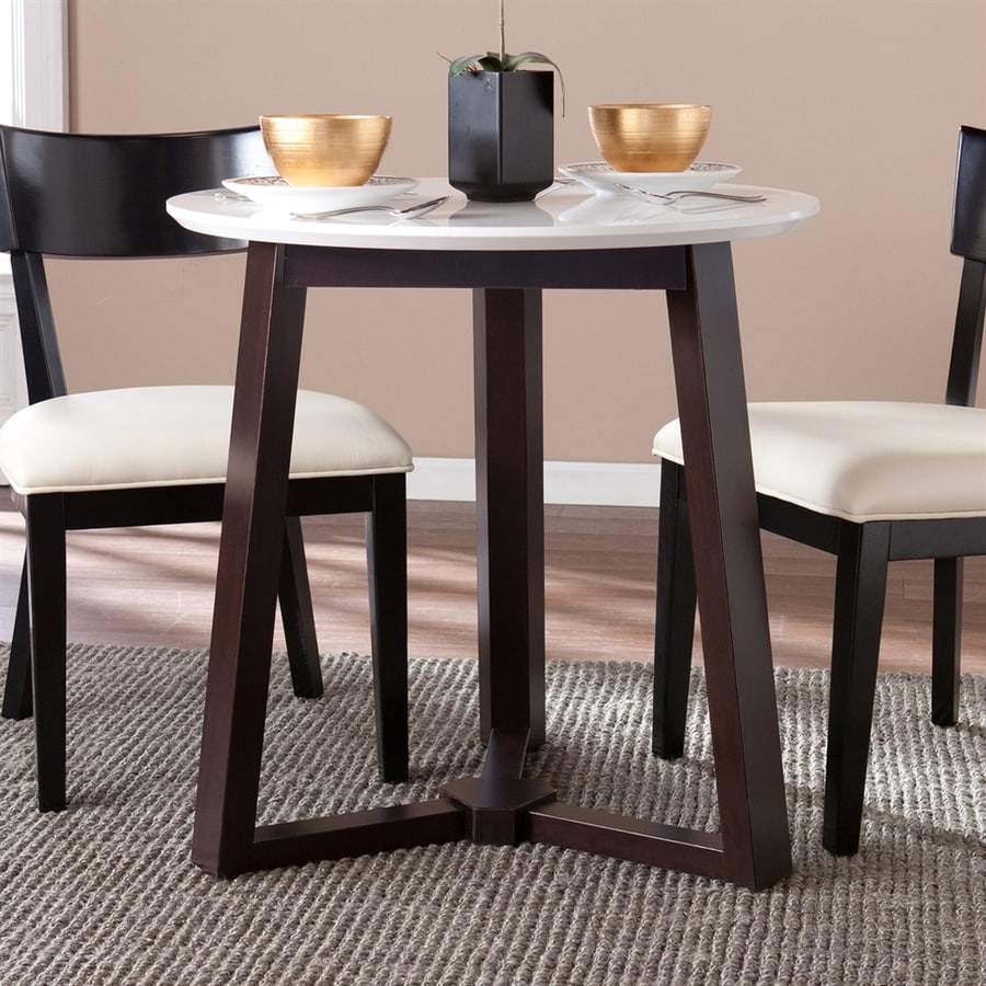 Boston Loft Furnishings Kyrie Espresso Round Dining Table