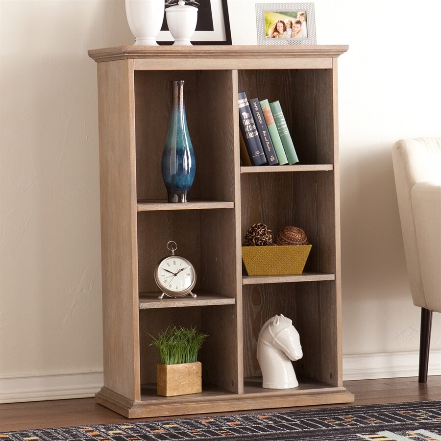 Boston Loft Furnishings Fay Burnt Oak 30-in W x 45.75-in H x 16-in D 6-Shelf Bookcase