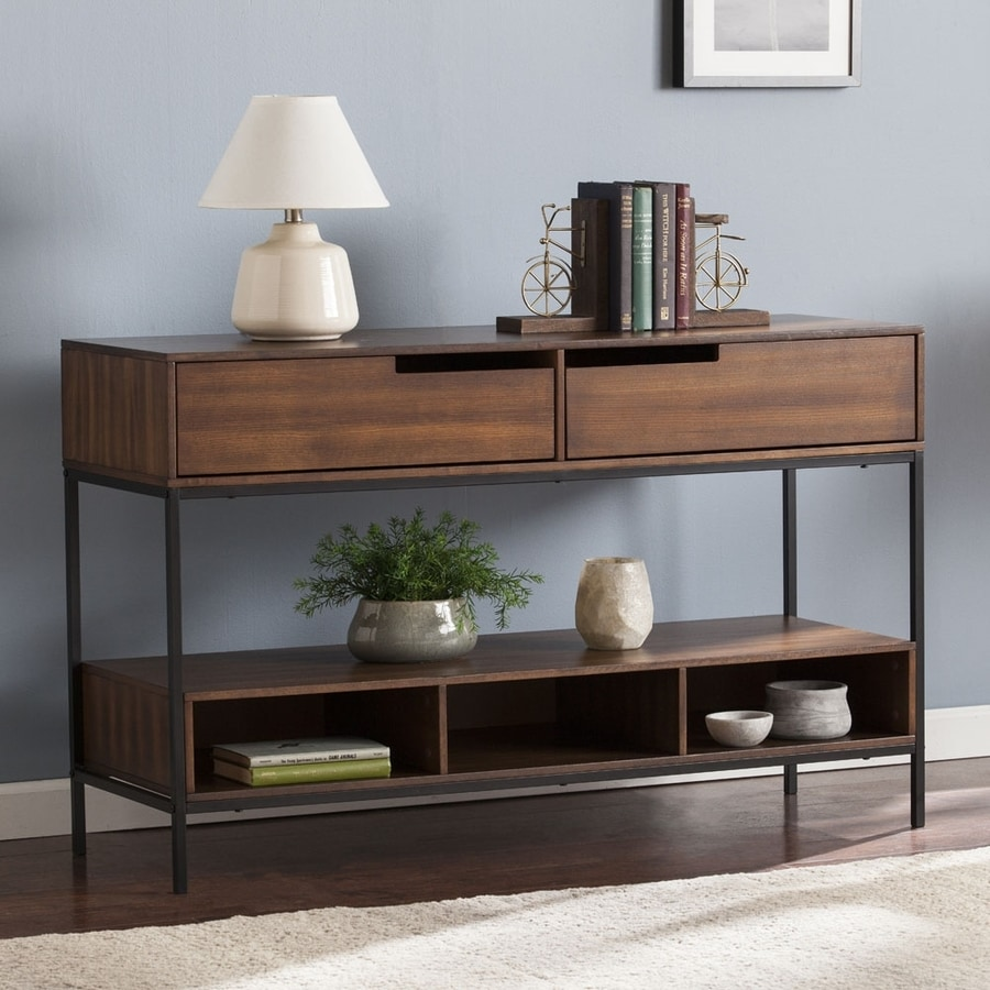 Boston Loft Furnishings Entain Dark Tobacco Ash Rectangular Console Table