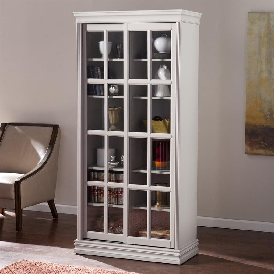 Boston Loft Furnishings Manning Warm Gray 34.25-in W x 71-in H x 15.75-in D 12-Shelf Bookcase