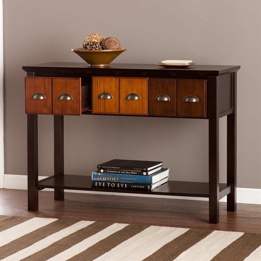 Boston Loft Furnishings Dawson Espresso Rectangular Console and Sofa Table