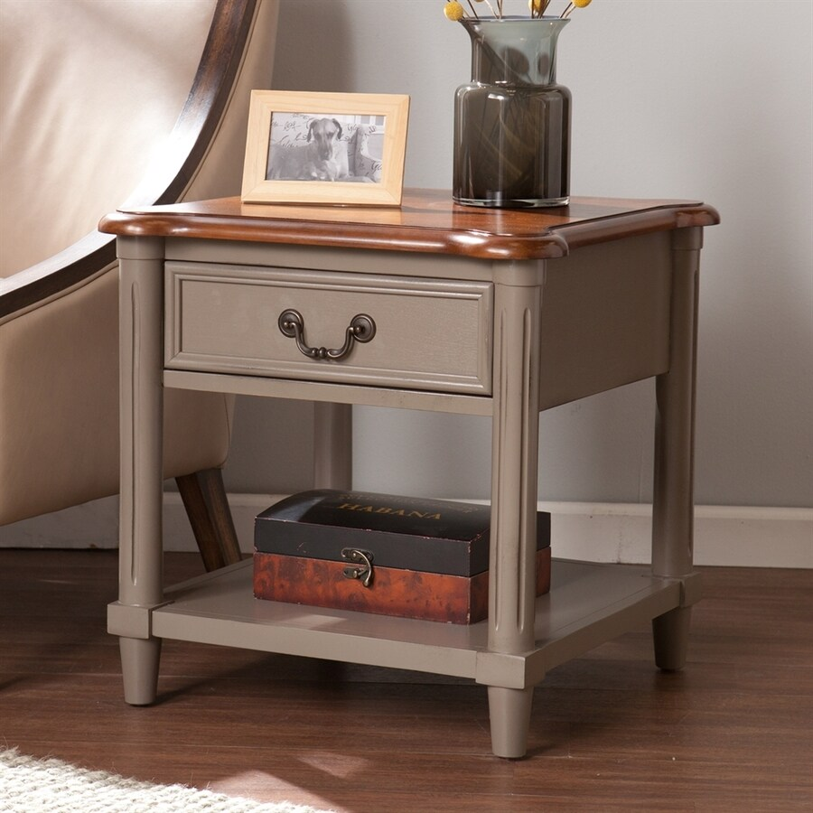 Boston Loft Furnishings Daymon Gray/Walnut Poplar Square End Table