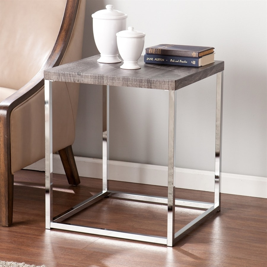Boston Loft Furnishings Gannon Weathered Gray Square End Table