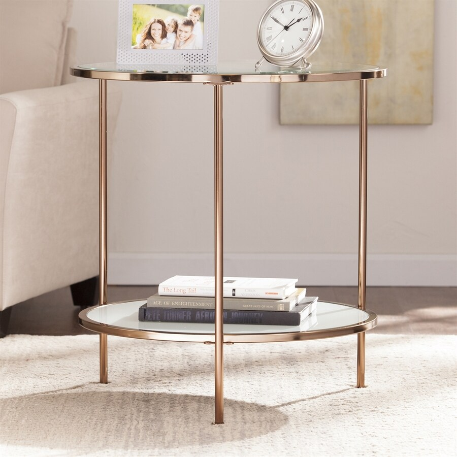Boston Loft Furnishings Riku Gold Round End Table