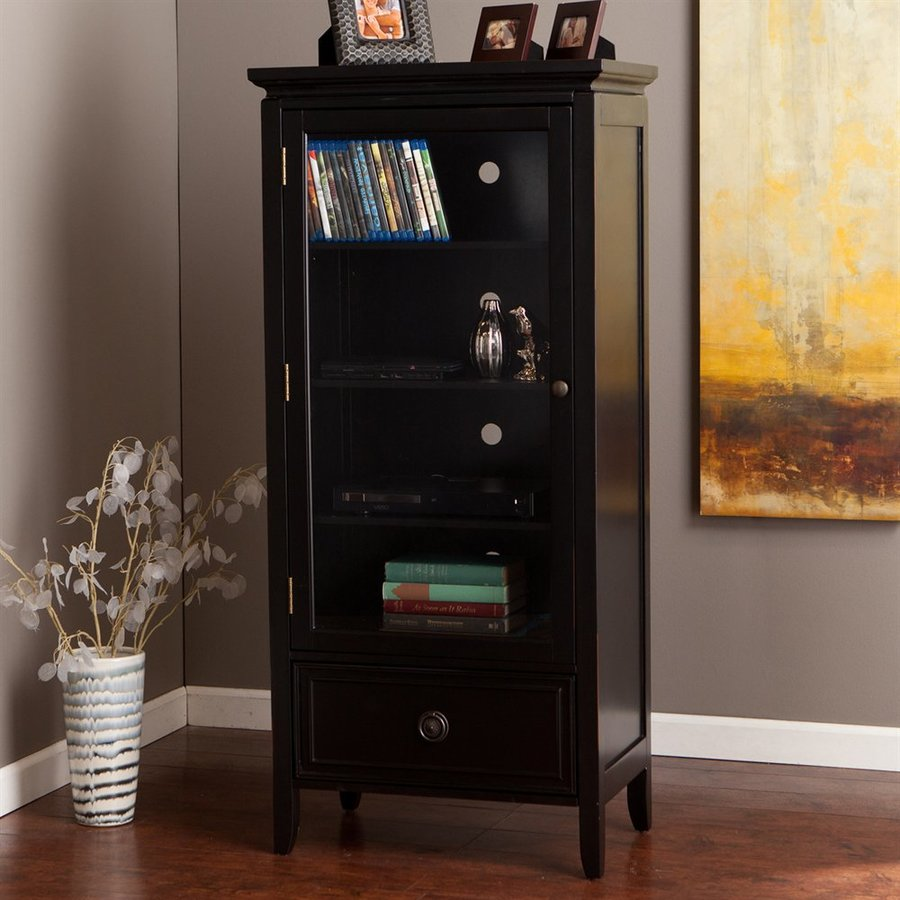 Boston Loft Furnishings Miles Black Multimedia Storage Unit