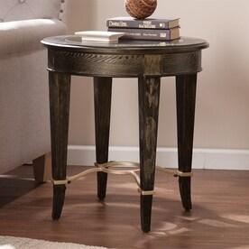 boston loft furnishings hollywood goldwashd black poplar end table