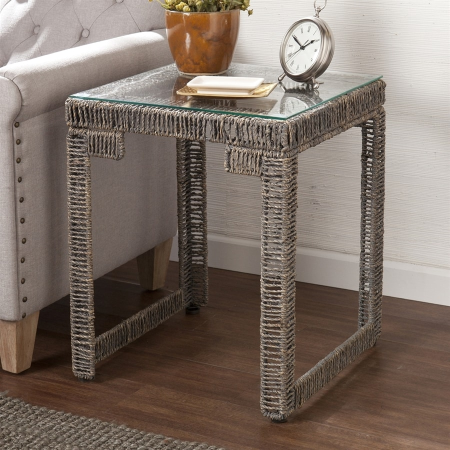 Boston Loft Furnishings Argus Sun-Bleached Gray Square End Table