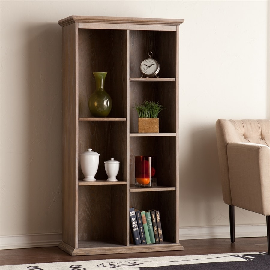 Boston Loft Furnishings Fay Burnt Oak 7-Shelf Bookcase