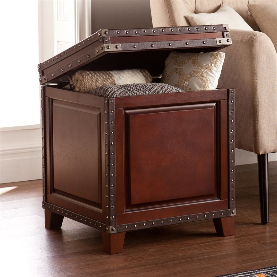 Boston Loft Furnishings Corey Dark Cherry/Espresso Square End Table