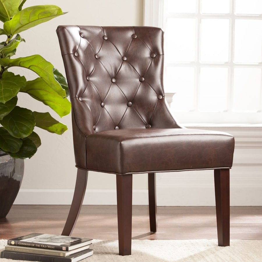 Boston Loft Furnishings Derbi Modern Chocolate Faux Leather Accent Chair