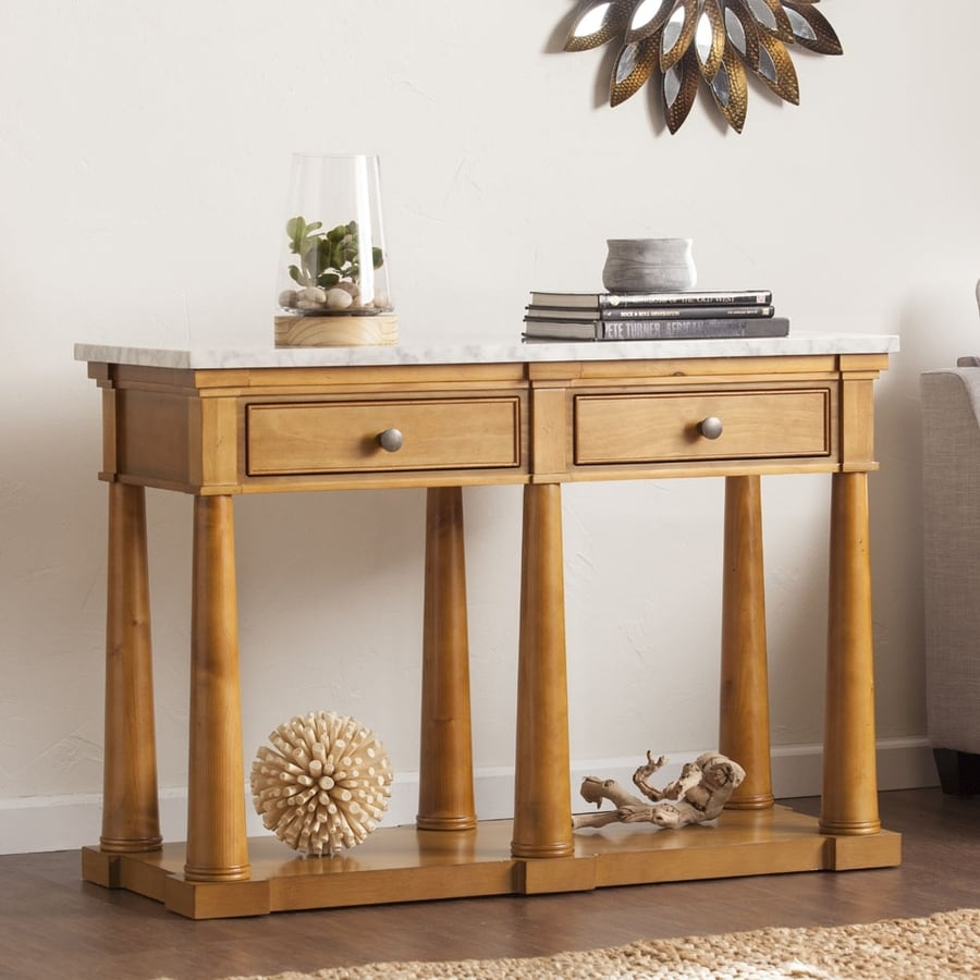 Boston Loft Furnishings Granddell Soft Gray Pine Console Table