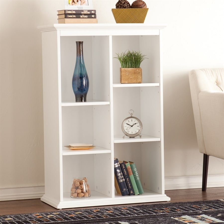 Boston Loft Furnishings Fay White 30-in W x 45.5-in H x 16-in D 6-Shelf Bookcase