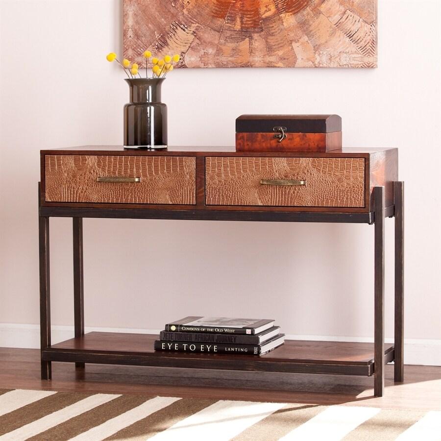 Boston Loft Furnishings Inas Redwash Espresso Rectangular Console Table